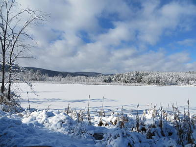 Photograph - Snow Covered Smiley's Pond by Nancy-Fay Hecker