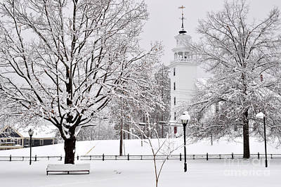 Photograph - Snow Covered Town Green by Staci Bigelow