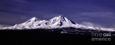 Photograph - Snow Covered Two Of Three Sisters Mountain Tops In Oregon by Jerry Cowart