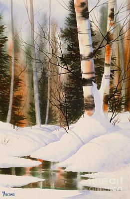 Snow Crevice Art Print by Teresa Ascone