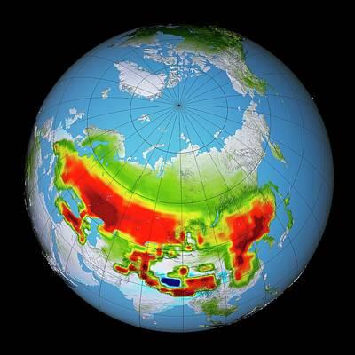 Earth Changes Photograph - Snow Darkening by Nasa's Scientific Visualization Studio