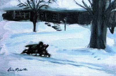 Painting - Snow Day by Erin Rickelton