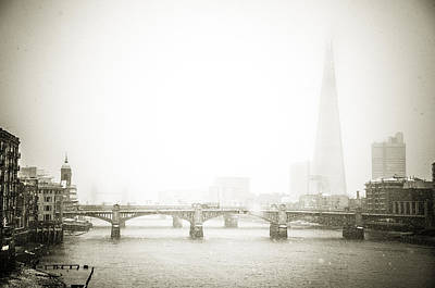Photograph - Snow Day In London by Lenny Carter