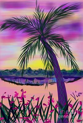 Painting - Snow Day In The Tropics by Judy Via-Wolff