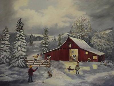 Snow Day   Print by Wanda Dansereau