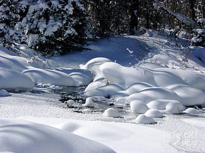 Wintry Photograph - Snow Diamonds by Deborah Smolinske