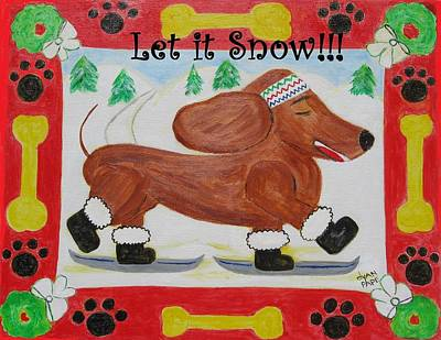 Painting - Snow Dog by Diane Pape