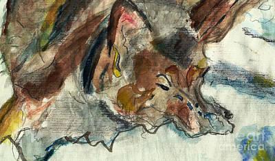 Comfort Painting - Snow Dog by Elizabeth Briggs