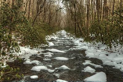 Photograph - Snow Dots The Waters Of The Great Smoky Mountains National Park  by Carol Montoya