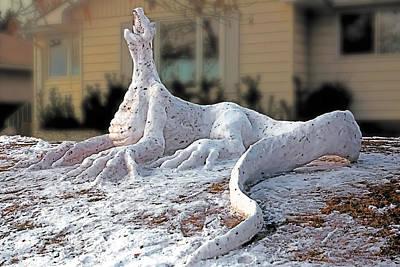 Iguana Painting - Snow Dragon by Terry Reynoldson