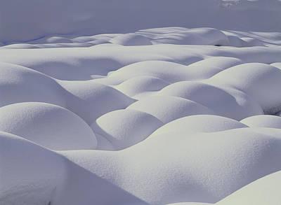 Snow Drifts Photograph - Snow Drifts Hokkaido Japan by Masami Goto