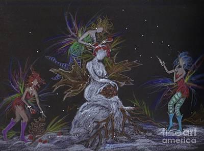 Fey Drawing - Snow Dryad by Dawn Fairies