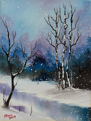 Steele Painting - Winter Enchantment II by Chris Steele