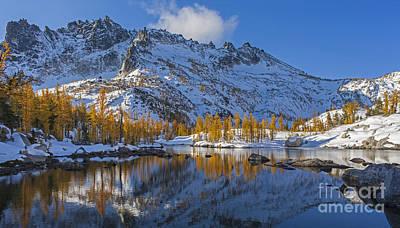 Photograph - Snow Fallen On Autumn by Mike Reid