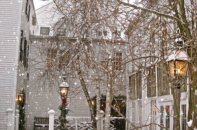 Photograph - Snow Falling On A Beloved Inn by Healing Woman