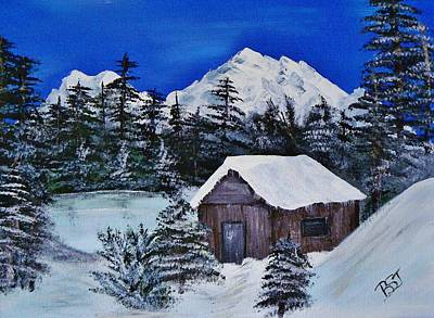 Snow Falling On Cedars Print by Barbara St Jean