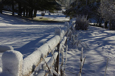 Photograph - Snow Fence by Tom Culver