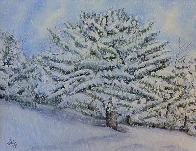 Painting - Snow Filled Trees by Kelly Mills