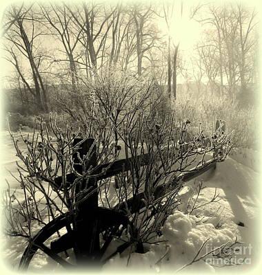 Gaugin Rights Managed Images - Snow Fog Sunrise Royalty-Free Image by Linda Galok
