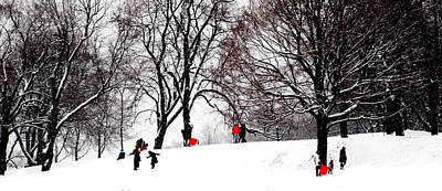 Montreal Winter Scenes Photograph - Snow Frolic Montreal by Jacqueline M Lewis