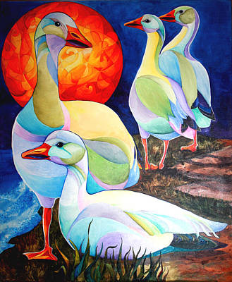 Snow Geese Painting - Snow Geese by Sherry Shipley