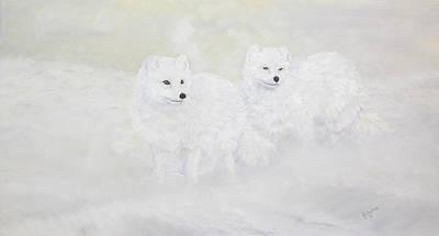 Snow Ghosts Of The North Art Print by Johanna Lerwick