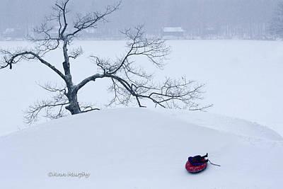 Art Print featuring the photograph Snow Hill Ride by Ann Murphy
