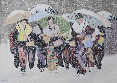 Painting - Snow Holiday by Masami Iida
