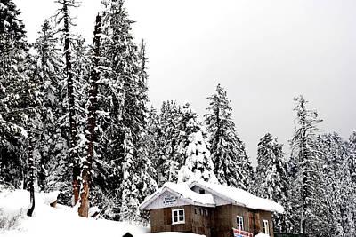 Photograph - Snow House- Gulmarg- Kashmir- India- Viator's Agonism by Vijinder Singh