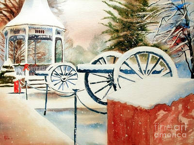 Winter Scenes Painting - Snow II by Kip DeVore