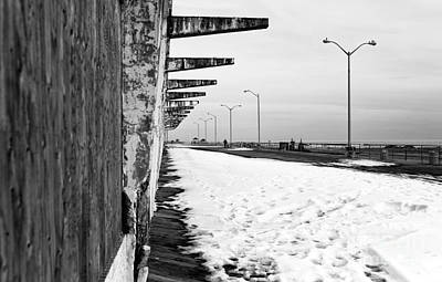 Photograph - Snow In Asbury Mono by John Rizzuto