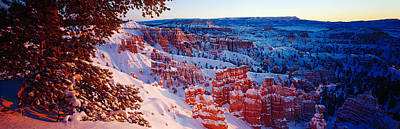 Snow In Bryce Canyon National Park Art Print by Panoramic Images