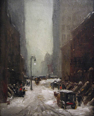 Painting - Snow In New York  by Robert Henri