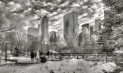 Photograph - Snow In N.y. by Albert Fadel
