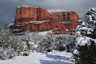 Photograph - Snow In Sedona by Donna Kennedy