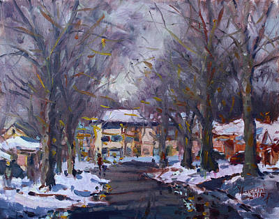 Snow In Silverado Dr Original by Ylli Haruni