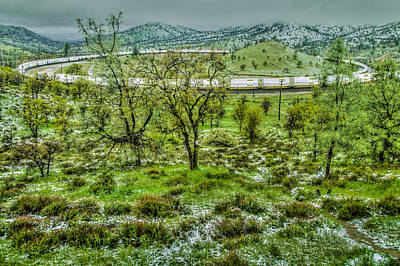 Photograph - Snow In Spring Train Loop by Connie Cooper-Edwards