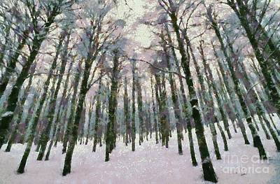 Snow In The Forest Art Print by George Atsametakis