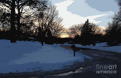 Digital Art - Snow In The Neighborhood by Kirt Tisdale