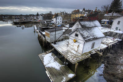 Snow In The South End Print by Eric Gendron