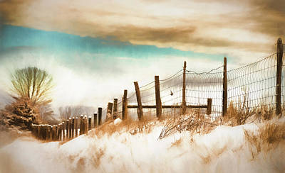 Fence Row Photograph - Snow In The Valley by Kathy Jennings