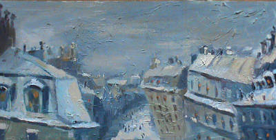 Snow Is Paris Art Print by NatikArt Creations