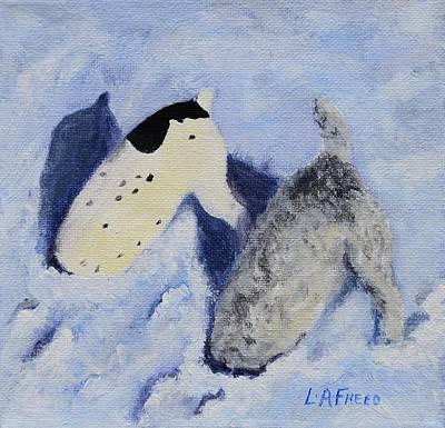 Snow Jacks Art Print by Linda Freed