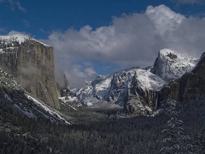 Yosemite Half Dome Photograph - Snow Kissed Valley by Bill Gallagher