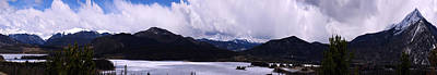 Photograph - Snow Lake And Mountains by Maria Arango Diener
