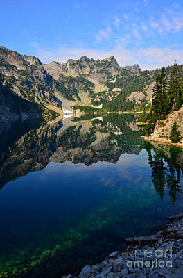 Snow Lake Reflections Art Print