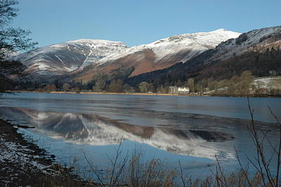 Lakedistrict Photograph - Snow Lake Reflections by Kathy Spall