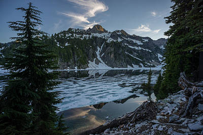 Serene Landscape Photograph - Snow Lake Serenity by Mike Reid