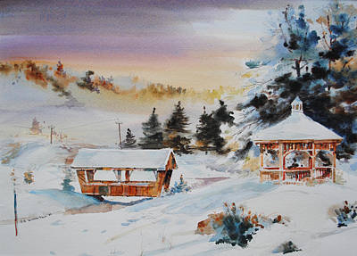 Gazebo Wall Art - Painting - Snow Land by P Anthony Visco