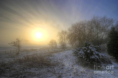 Photograph - Snow Landscape Sunrise by Yhun Suarez